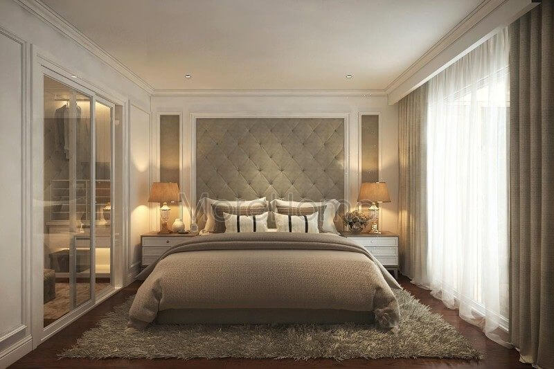 Thiết kế nội thất phòng ngủ cho căn hộ Pentstudio tây hồ