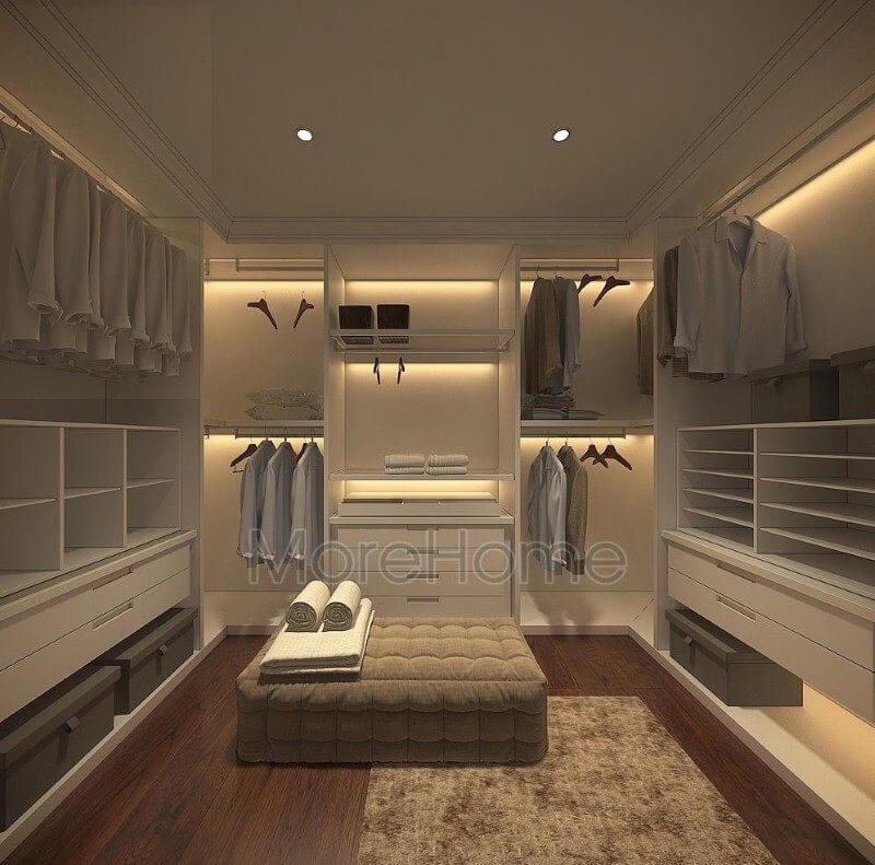 Thiết kế phòng thay đồ căn hộ pentstudio tây hồ