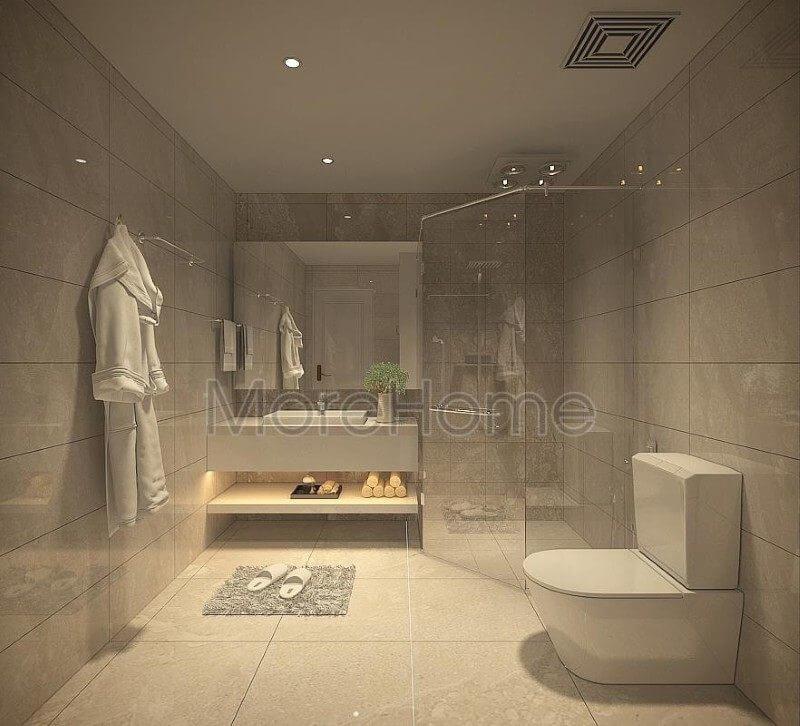 Thiết kế phòng tắm, nhà vệ sinh cho căn hộ pentstudio tây hồ