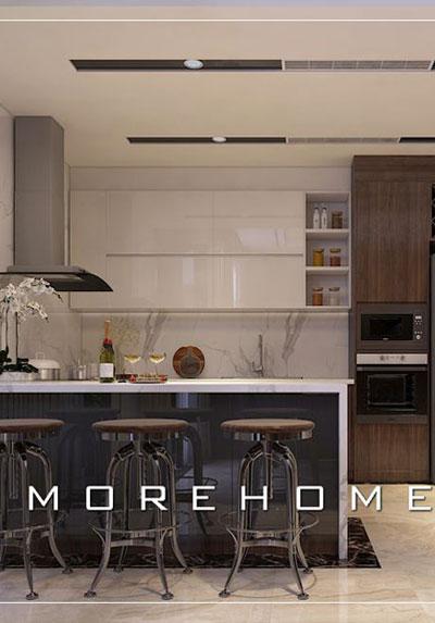 Thiết kế nội thất phòng bếp đẹp, hiện đại cho nhà chung cư, biệt thự