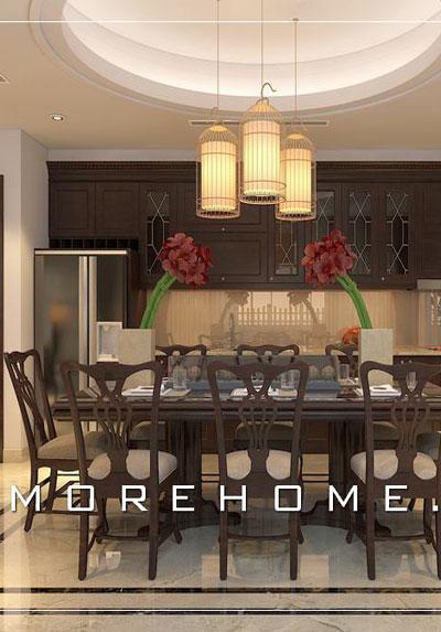 Mẫu thiết kế nội thất phòng bếp- ăn tuyệt đẹp khiến bạn mê mẩn