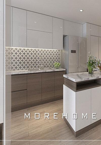 Các mẫu thiết kế nội thất phòng bếp hiện đại, đơn giản và sang trọng