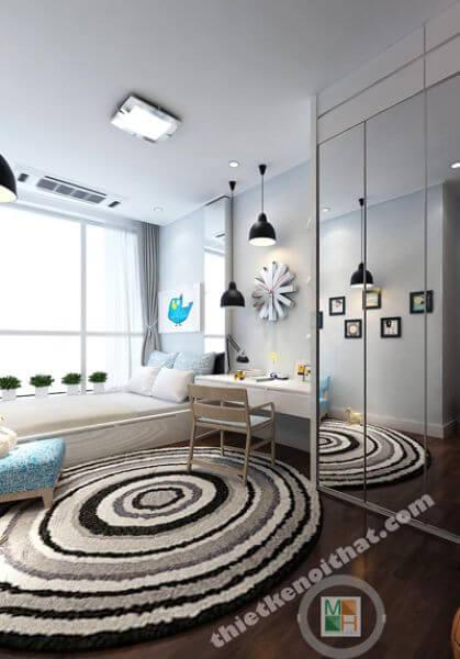 Thiết kế căn hộ chung cư Keangnam theo phong cách hiện đại - anh Trường