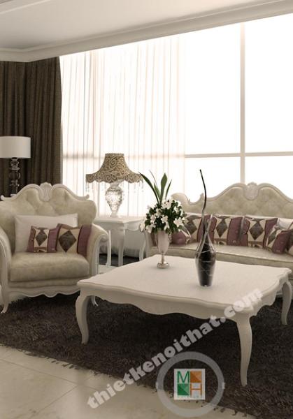 Thiết kế nội thất chung cư keangnam phong cách tân cổ điển - Anh Linh