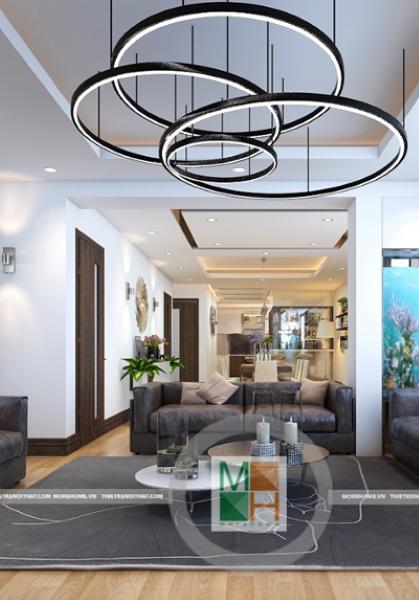 Thiết kế nội thất căn hộ chung cư hiện đại tại Hoàng Quốc Việt - Chú Ngọc