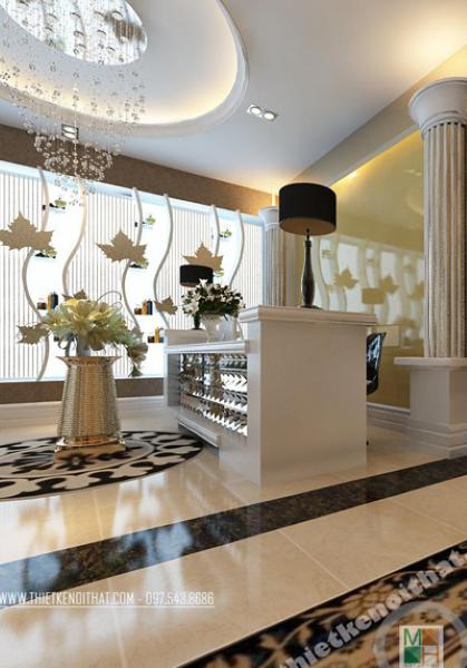 Thiết kế nội thất SPA Thu Hương - vẻ đẹp thời thượng, xa hoa, quý phái