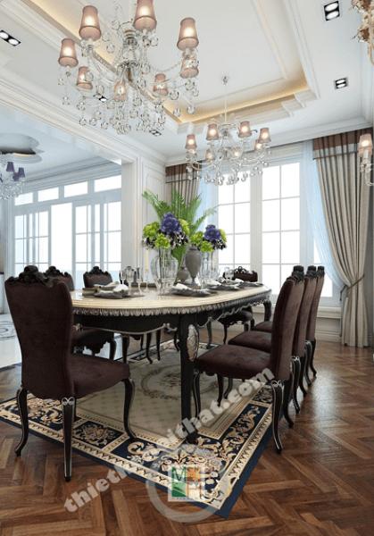 Thiết kế nhà biệt thự tân cổ điển cao cấp đường Sơn Tây - Anh Khang