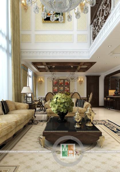 Thiết kế nội thất chung cư Duplex Mandarin cao cấp - Anh Hoàng