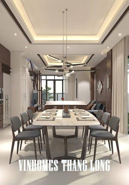 Thiết kế nội thất biệt thự Vinhomes Thăng Long hiện đại - anh Thành