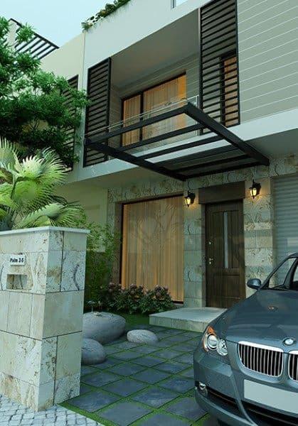 Thiết kế kiến trúc và nội thất biệt thự mini tại khu đô thị Palm - Anh Hùng