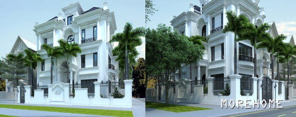 Thiết kế biệt thự đơn lập tân cổ điển tại Hà Nội