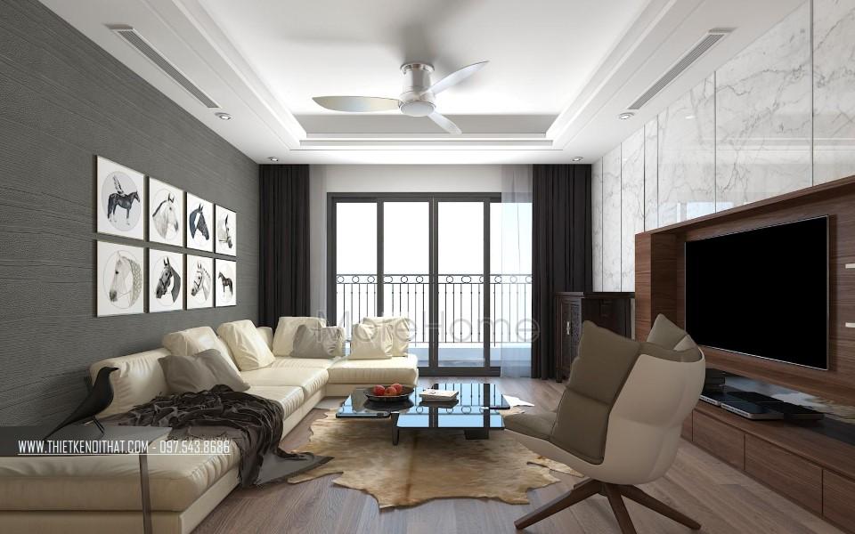 Thiết kế nội thất phòng khách chung cư Grand City Thụy Khuê Hà Nội