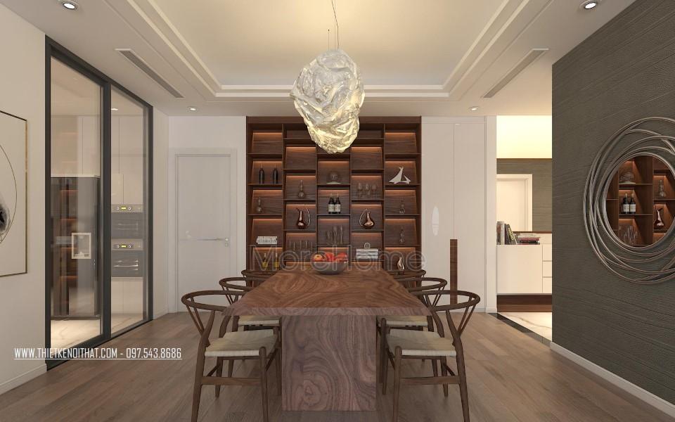 Thiết kế nội thất khu bàn ăn chung cư Grand City Thụy Khuê Hà Nội