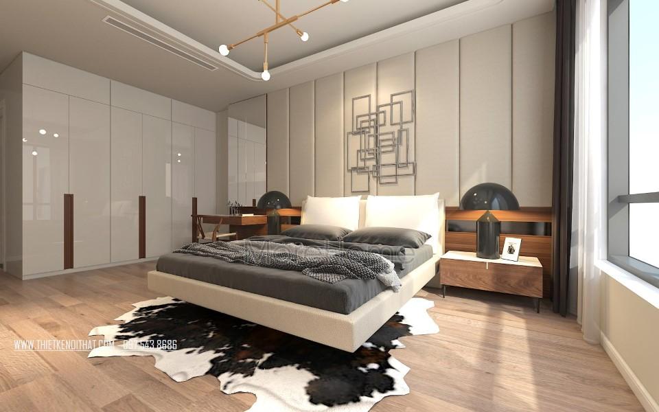 Thiết kế nội thất phòng ngủ chung cư Grand City Thụy Khuê Hà Nội