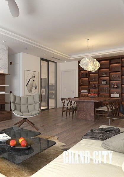Thiết kế nội thất chung cư Grand City đậm phong cách hiện đại - Anh Hà