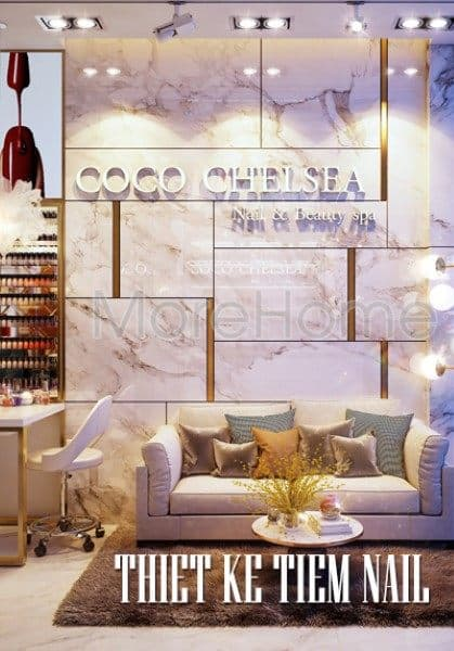 Thiết kế  tiệm nails Coco Chelsea - London