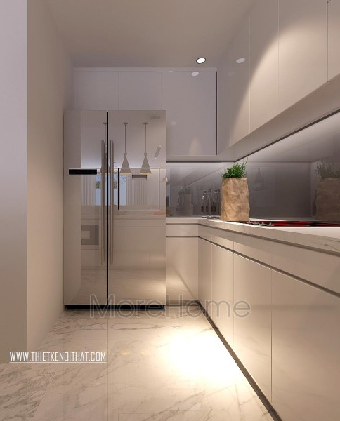 Thiết kế nội thất phòng bếp chung cư Park Hill hiện đại