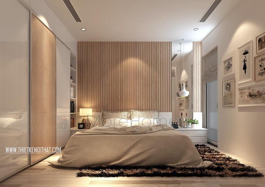 Thiết kế nội thất phòng ngủ Master chung cư Park Hill hiện đại