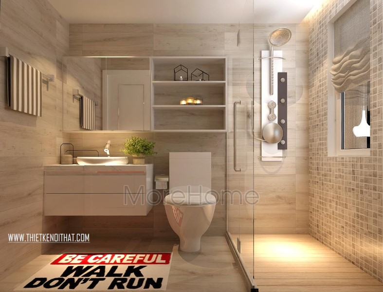 Phòng tắm sử dụng thiết bị vệ sinh cao cấp