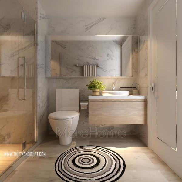Thiết kế nội thất phòng tắm, nhà vệ sinh chung cư Park Hill hiện đại