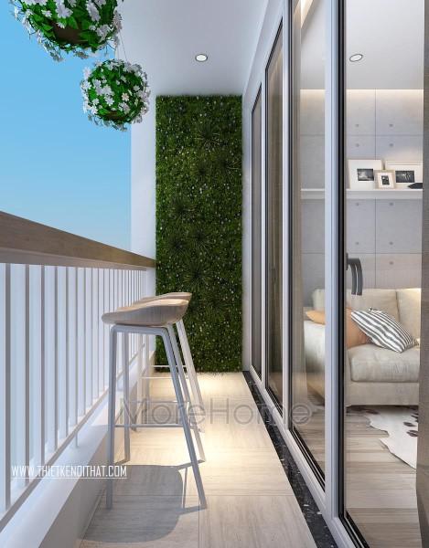 Thiết kế ban công chung cư Park Hill hiện đại