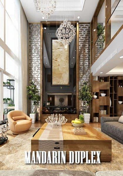 Thiết kế căn hộ duplex Mandarin garden - chị Mai