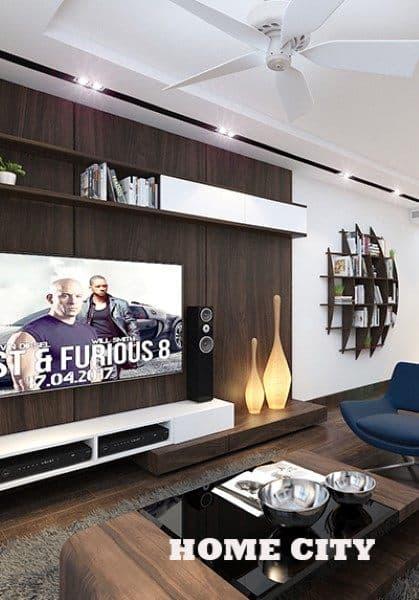 Thiết kế nội thất căn hộ chung cư Home City phong cách hiện đại - Anh Tuấn