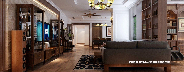 Mẫu thiết kế nội thất chung cư Times City Park Hill - nhà Anh Sơn
