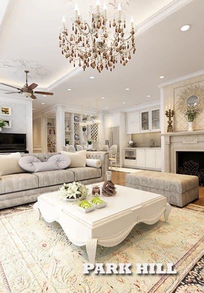Mẫu thiết kế căn hộ Times City Park Hill Tân cổ điển - Anh Khánh