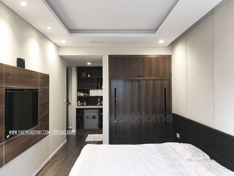 Thi công nội thất phòng ngủ chung cư Trung Hòa Nhân Chính