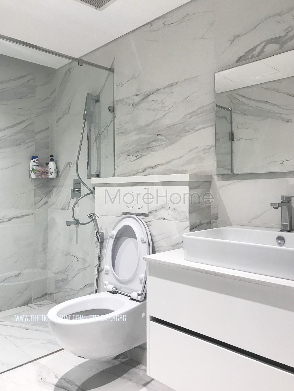 Thi công nội thất phòng tắm chung cư Trung Hòa Nhân Chính