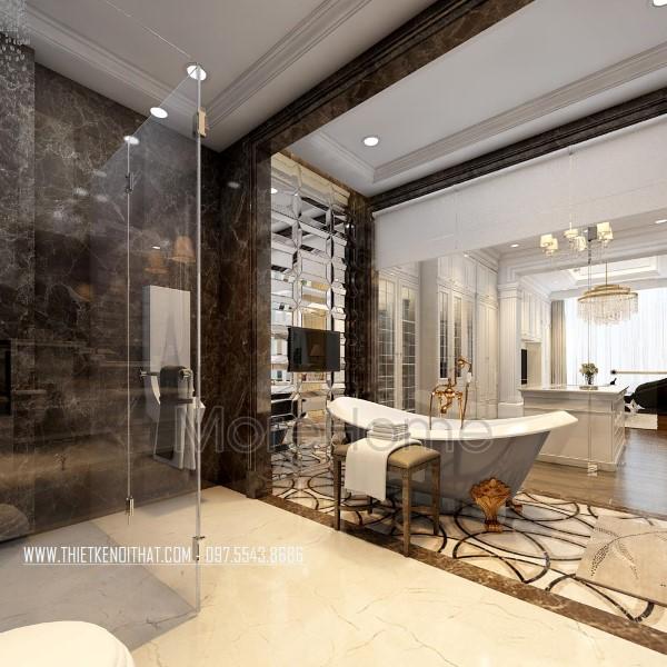 Thiết kế nội thất phòng tắm biệt thự tân cổ điển CIPUTRA