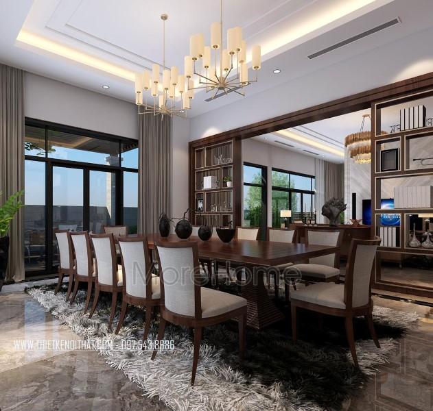 Thiết kế nội thất phòng ăn biệt thự Nam Định hiện đại