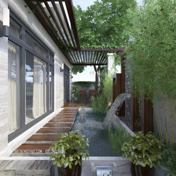 Thiết kế sân vườn biệt thự Nam Định hiện đại
