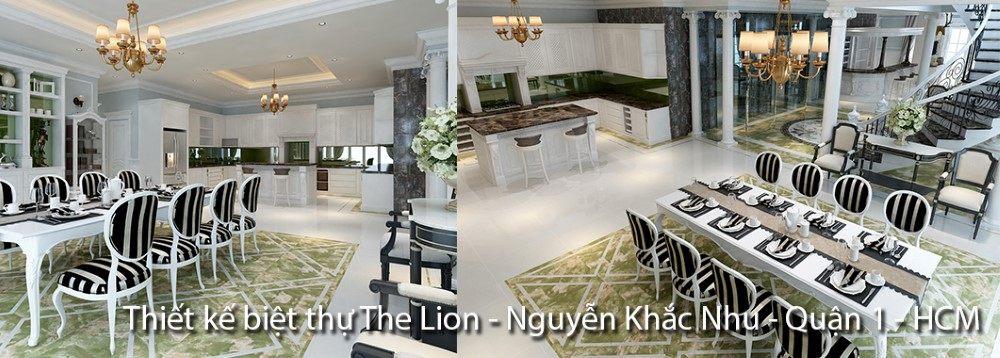 Thiết kế biệt thự Sài Gòn - The Lion - Nguyễn Khắc Nhu Quận 1