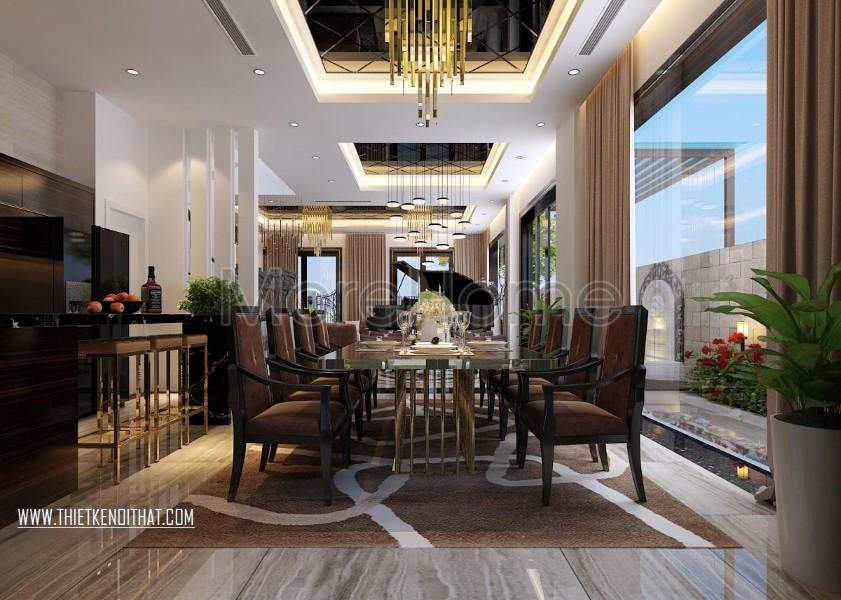 Thiết kế nội thất biệt thự Vinhomes Riverside cao cấp