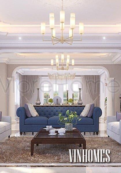 Thiết kế nội thất biệt thự Vinhome RiverSide khu đô thị Hoa Phượng