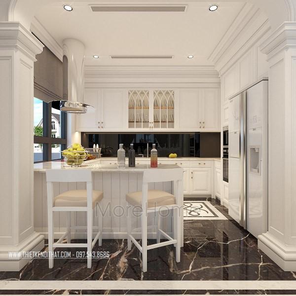 Thiết kế nội thất khu bếp biệt thự Vinhomes Thăng Long
