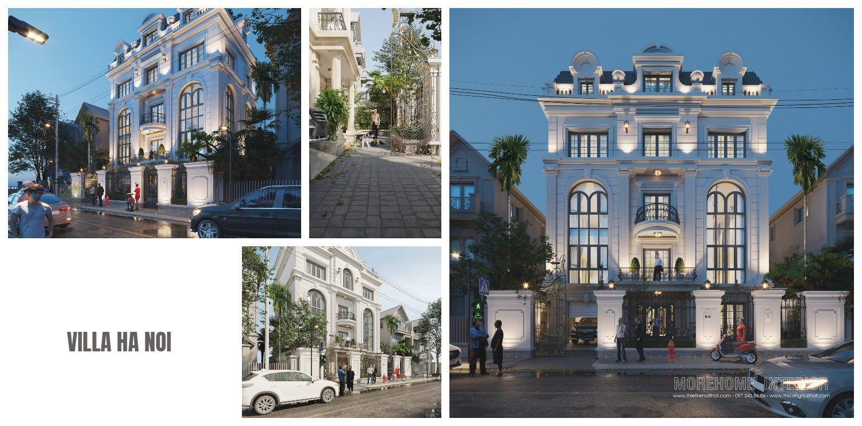 Thiết kế kiến trúc nhà biệt thự tân cổ điển