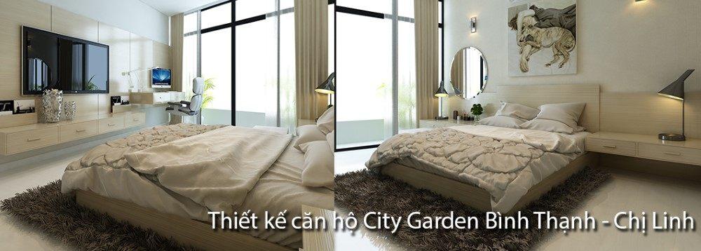 Thiết kế căn hộ City Garden Bình Thạnh - Hồ Chí Minh - Nhà chị Linh