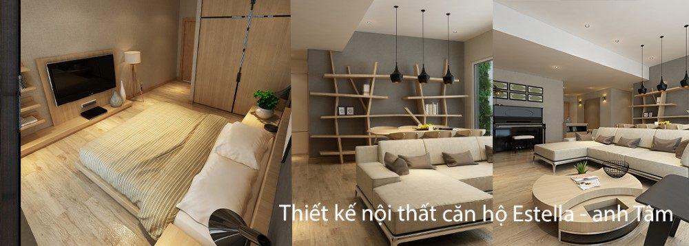 Thiết kế căn hộ cao cấp Estella Quận 2, Hồ Chí Minh - Nhà anh Tâm