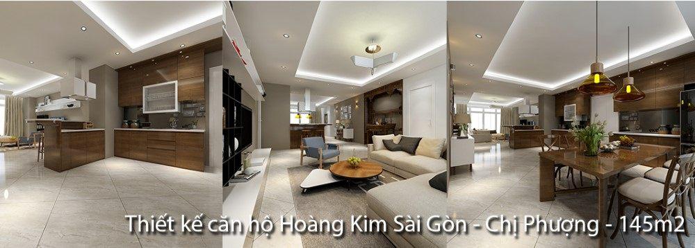 Thiết kế căn hộ Hoàng Kim Sài Gòn - Nhà chị Phượng - 145m2