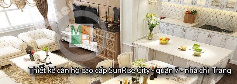 Thiết kế căn hộ Sunrise City, Quận 7, Hồ Chí Minh - nhà chị Trang