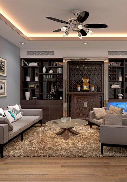 Thiết kế nội thất chung cư hiện đại tại chung cư CT4 Sông Đà - anh Tuấn