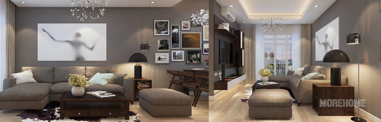 Thiết kế nội thất căn hộ chung cư Hoàng Mai - Anh Trường