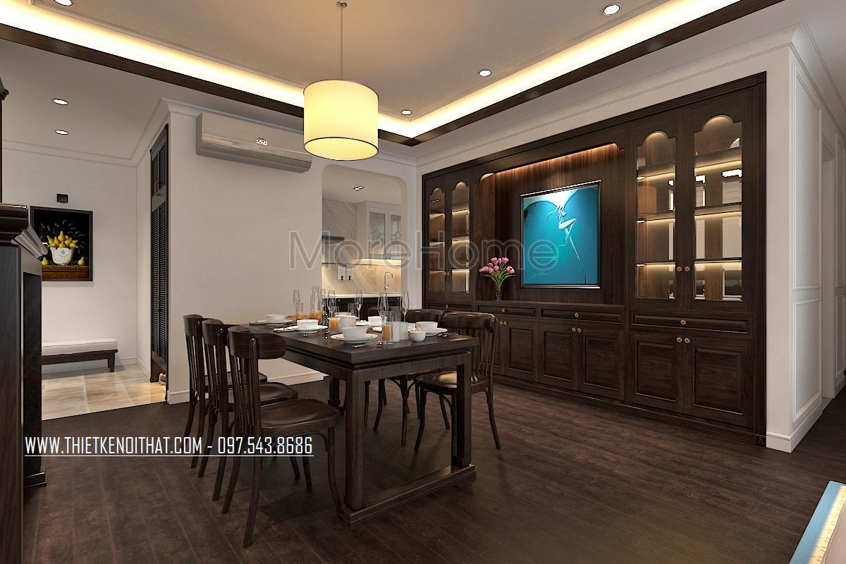 Thiết kế nội thất phòng ăn chung cư Ngoại Giao Đoàn
