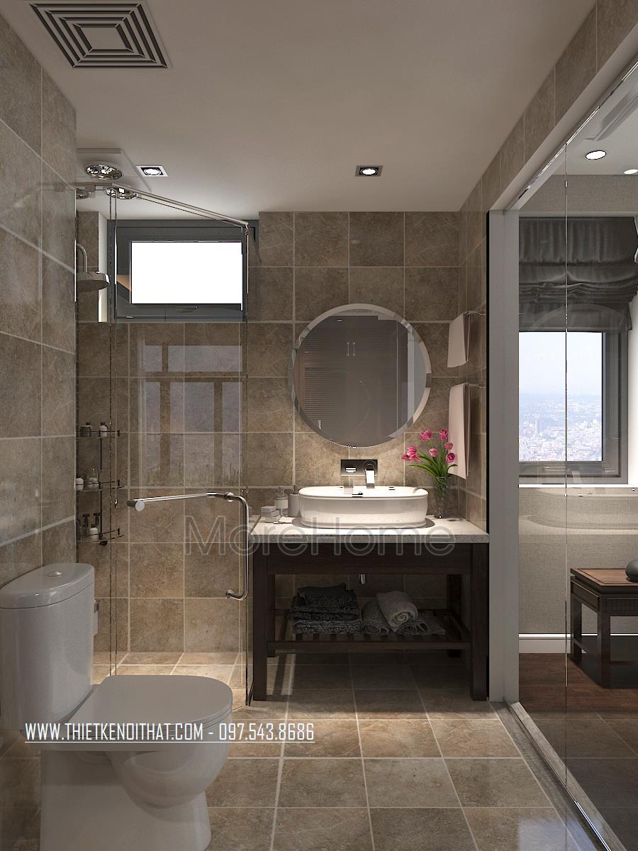 Thiết kế nội thất phòng ngủ chung cư Ngoại Giao Đoàn