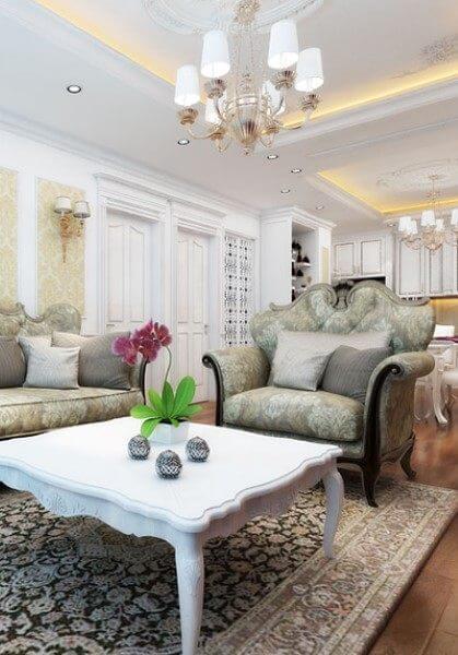Thiết kế nội thất căn hộ chung cư tân cổ điển Ngọc Khánh - Anh Duy