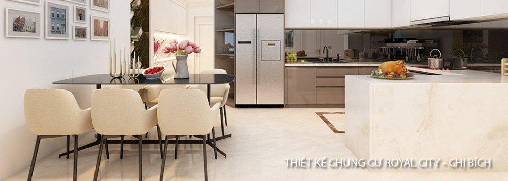 Thiết kế nội thất chung cư Royal City - Nhà Chị Bích