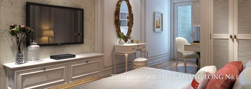 Thiết kế nội thất chung cư Thăng Long Number One theo phong cách Tân cổ điển - Nhà chị Diên